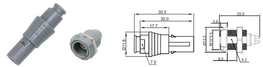 0P plastic circular connector